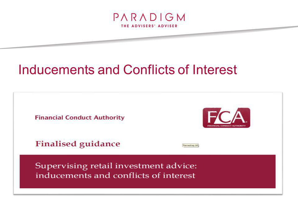 Inducements and Conflicts of Interest