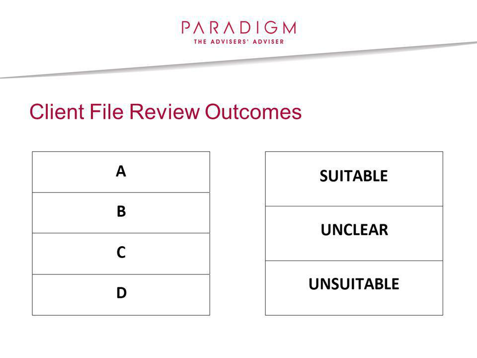 Client File Review Outcomes