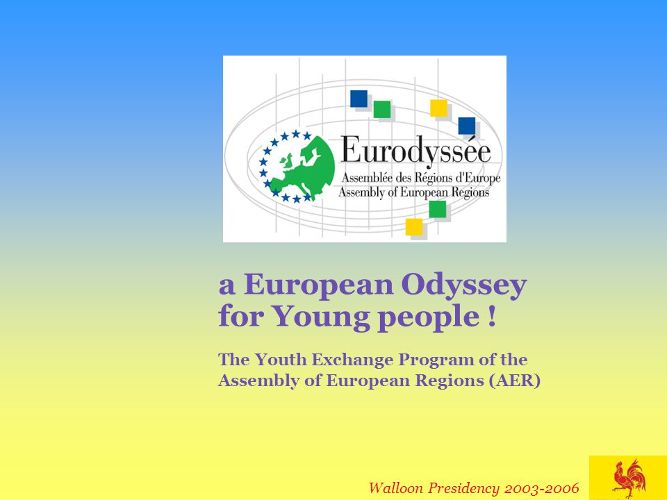 èVote a budget according to what you want your Eurodyssée Exchange Program to be : 4Host and send from 2 to X trainees per year 4Decide whether you will finance or not trainees' travel costs 4...
