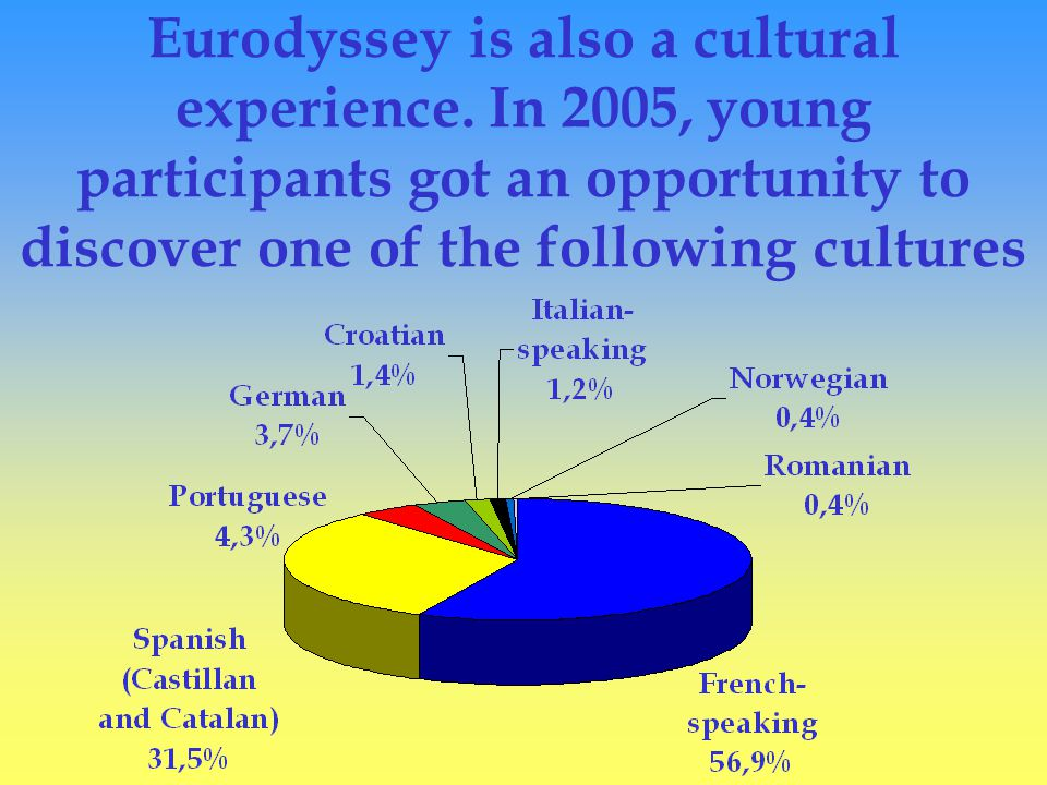 Eurodyssey is also a cultural experience.