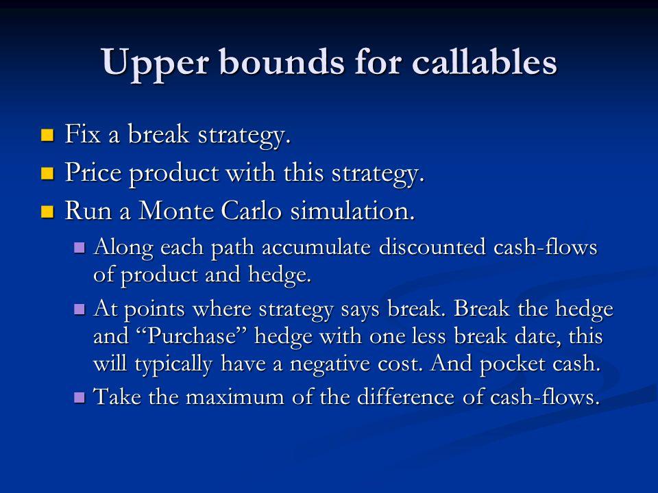 Upper bounds for callables Fix a break strategy. Fix a break strategy.