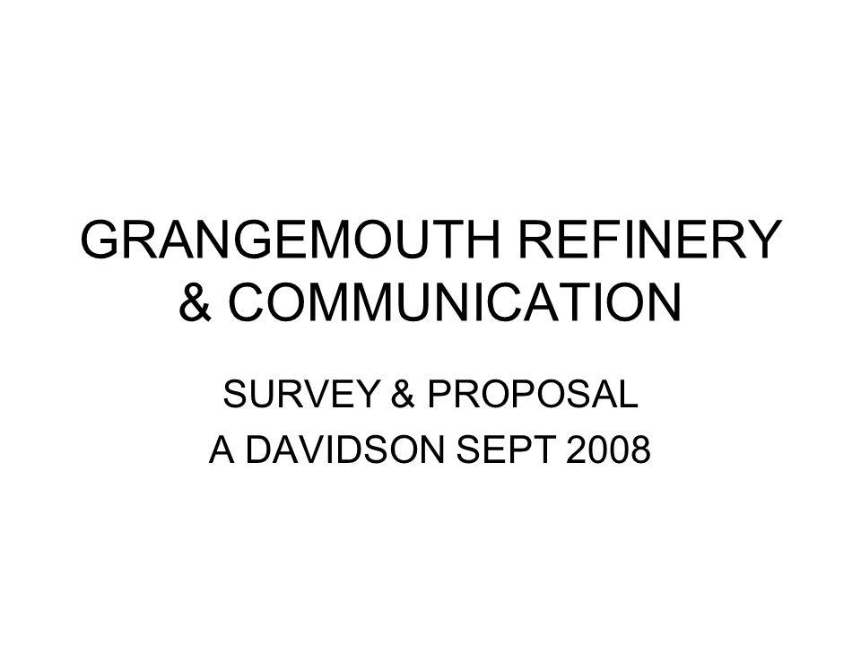 GRANGEMOUTH REFINERY & COMMUNICATION SURVEY & PROPOSAL A DAVIDSON SEPT 2008