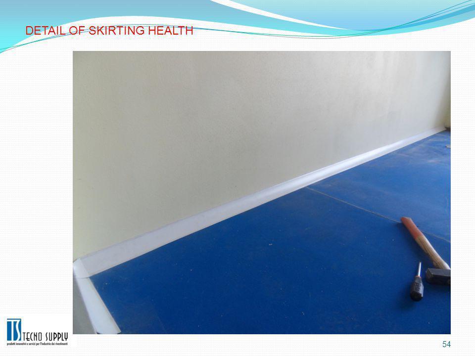 54 DETAIL OF SKIRTING HEALTH
