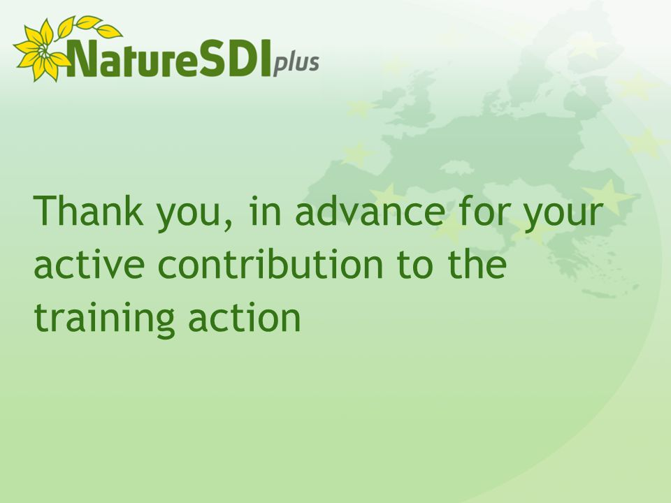 Thank you, in advance for your active contribution to the training action