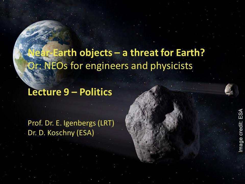 1 Near-Earth objects – a threat for Earth.