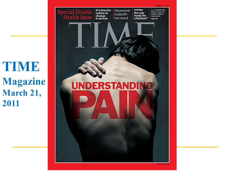 TIME Magazine March 21, 2011