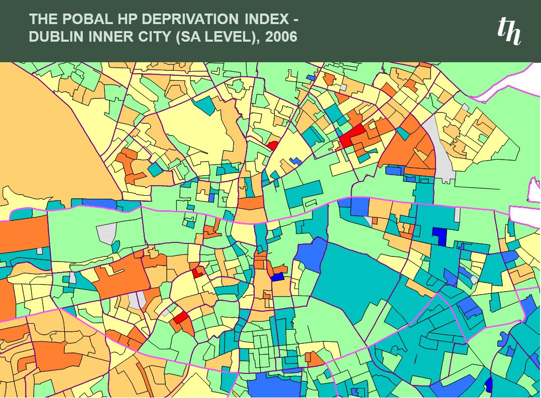 THE POBAL HP DEPRIVATION INDEX - DUBLIN INNER CITY (SA LEVEL), 2006