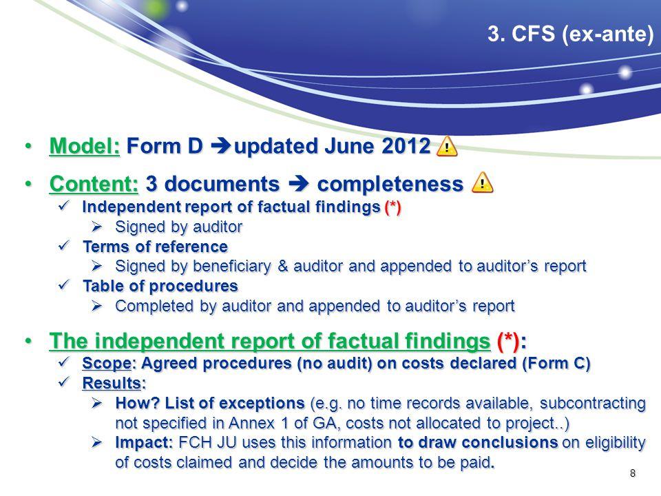 Model: Form D  updated June 2012Model: Form D  updated June 2012 Content: 3 documents  completenessContent: 3 documents  completeness Independent