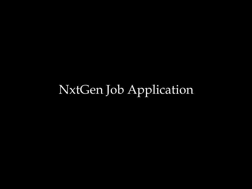 NxtGen Job Application