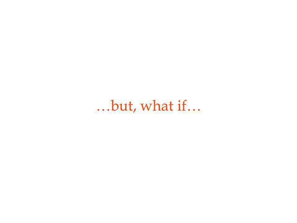 …but, what if…