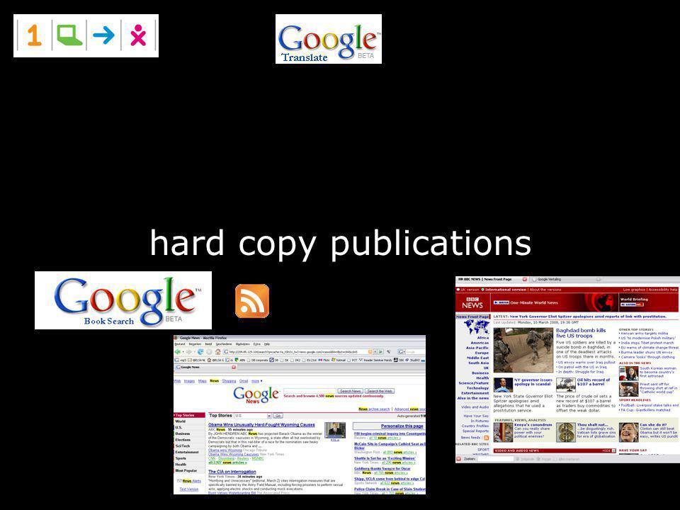 hard copy publications
