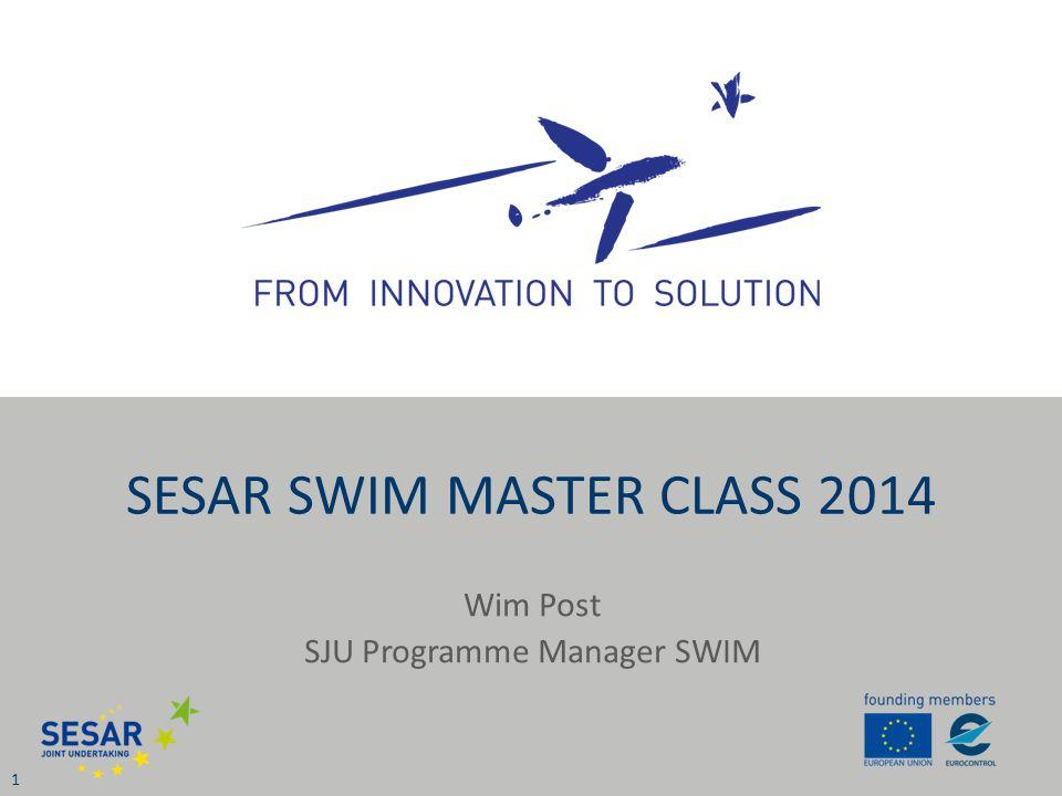 Wim Post SJU Programme Manager SWIM 1 SESAR SWIM MASTER CLASS 2014