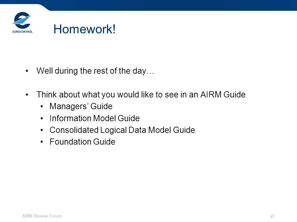 AIRM Review Forum 27 Homework.