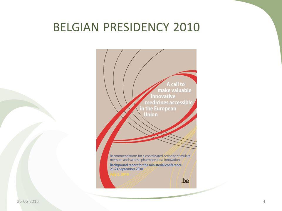 BELGIAN PRESIDENCY 2010 426-06-2013