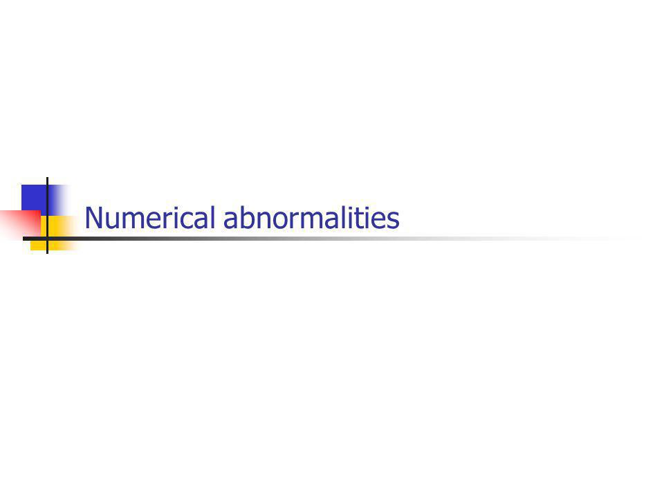 Numerical abnormalities