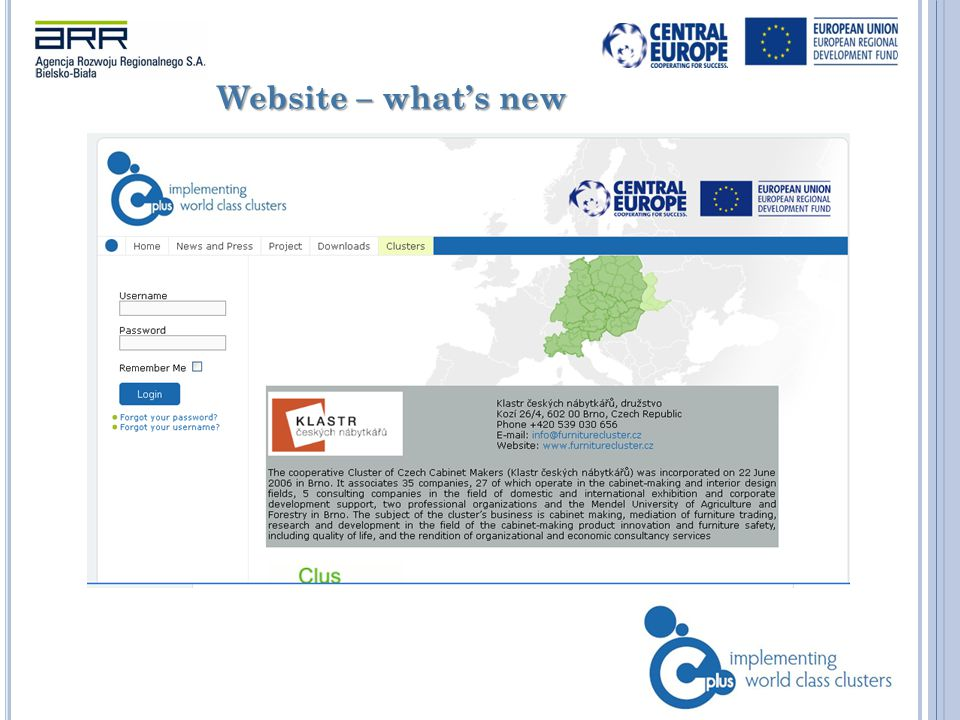 Website – what's new