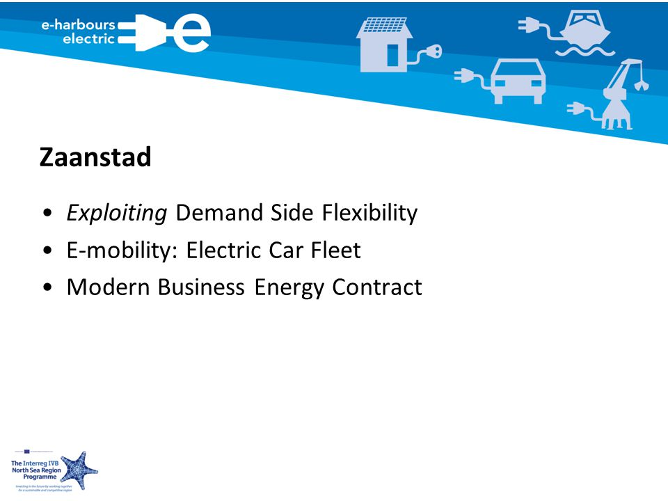 Zaanstad Exploiting Demand Side Flexibility E-mobility: Electric Car Fleet Modern Business Energy Contract