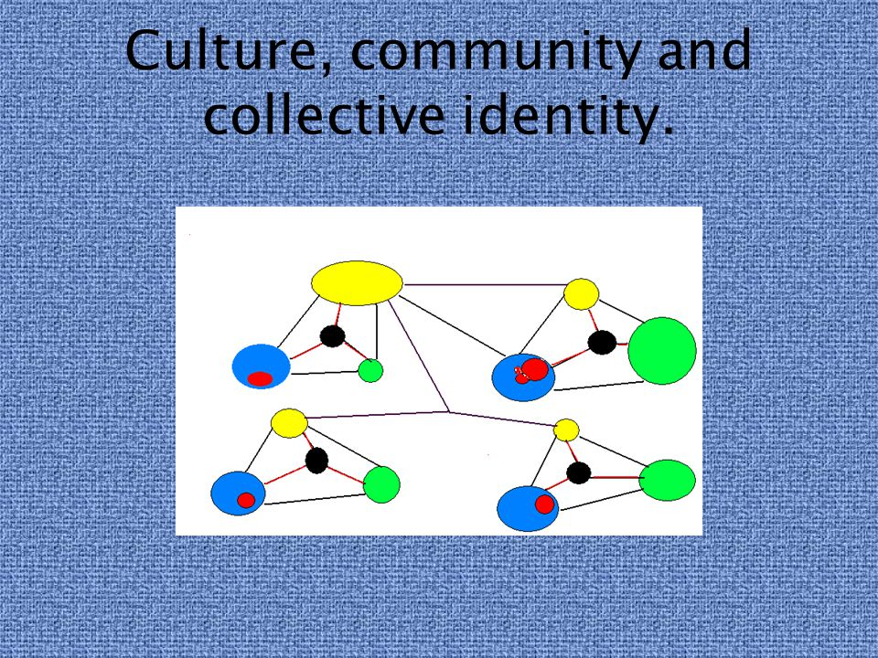 Culture, community and collective identity.