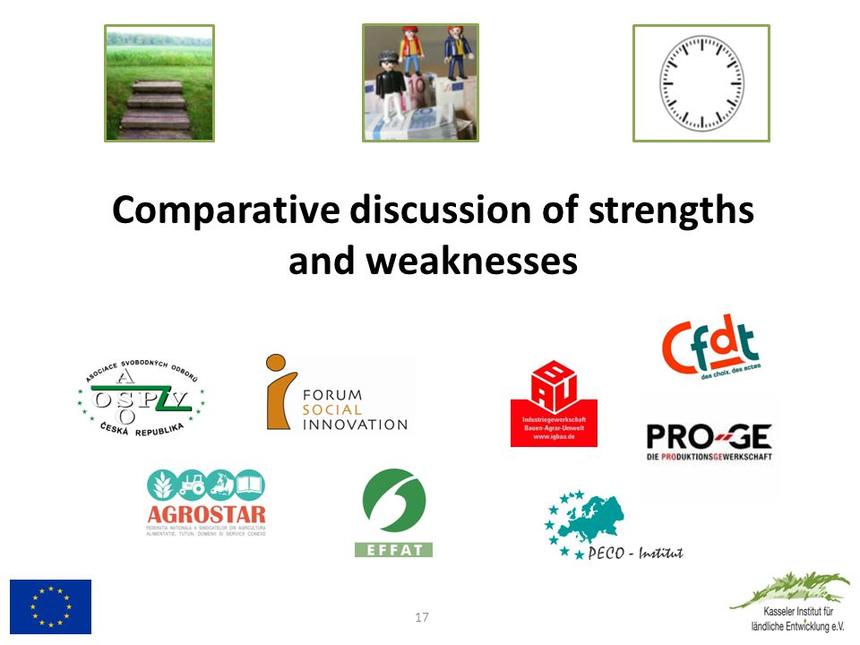 Comparative discussion of strengths and weaknesses 17