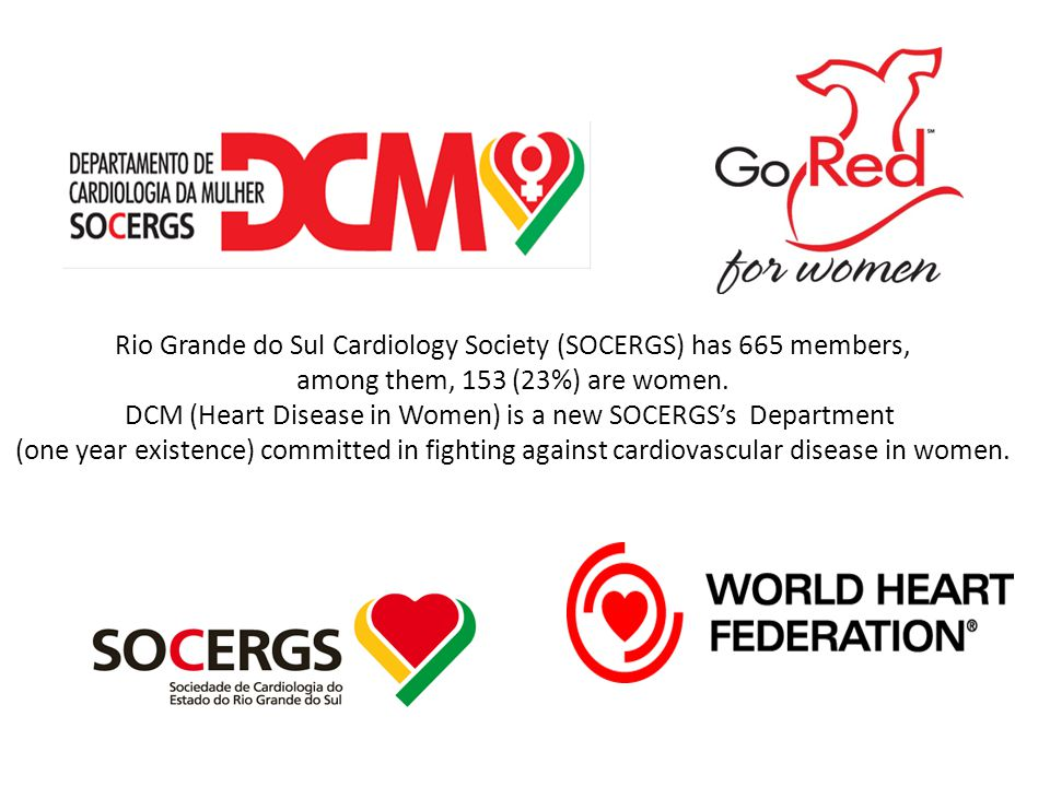 Rio Grande do Sul Cardiology Society (SOCERGS) has 665 members, among them, 153 (23%) are women.