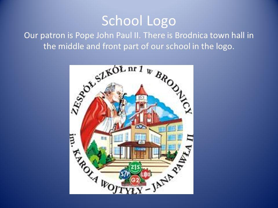 School Logo Our patron is Pope John Paul II.