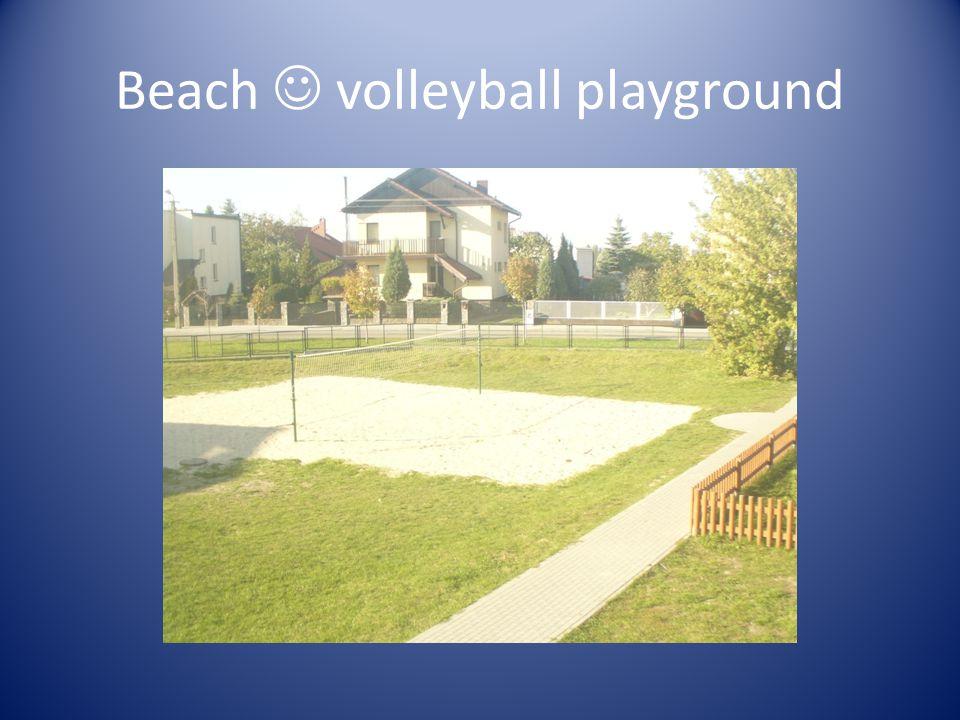 Beach volleyball playground