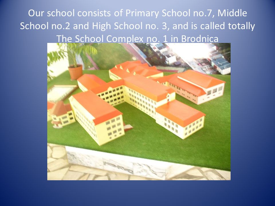 Our school consists of Primary School no.7, Middle School no.2 and High School no.