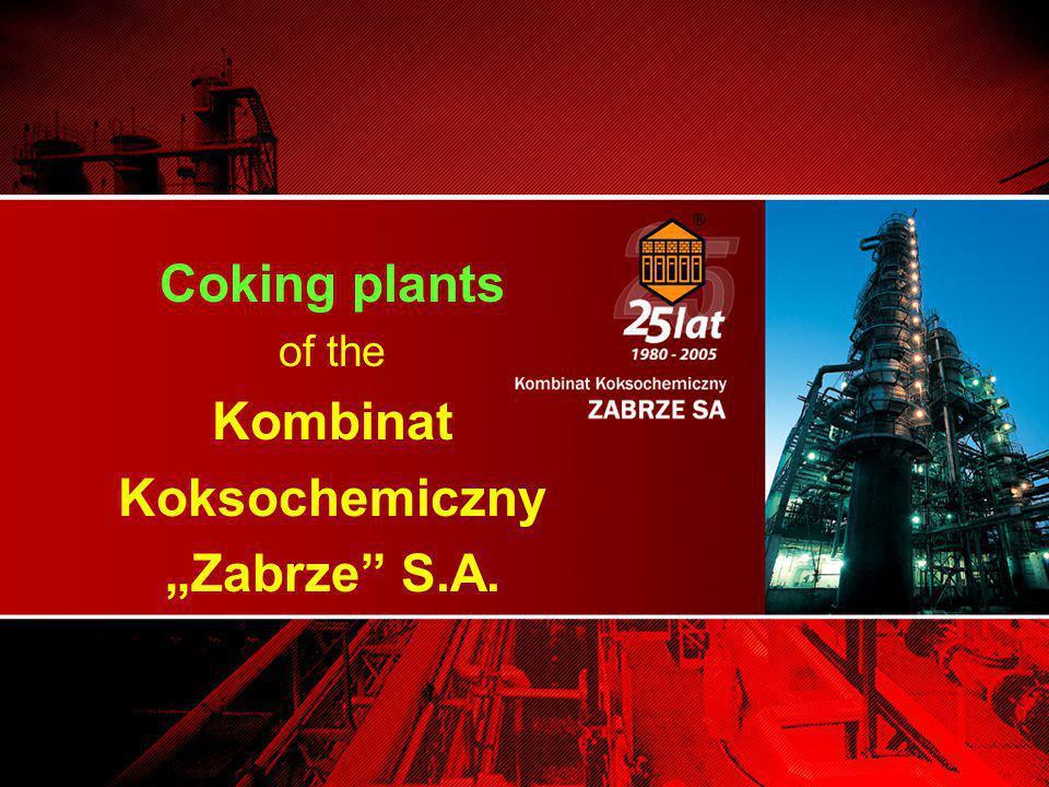 """Coking plants of the Kombinat Koksochemiczny """"Zabrze S.A."""