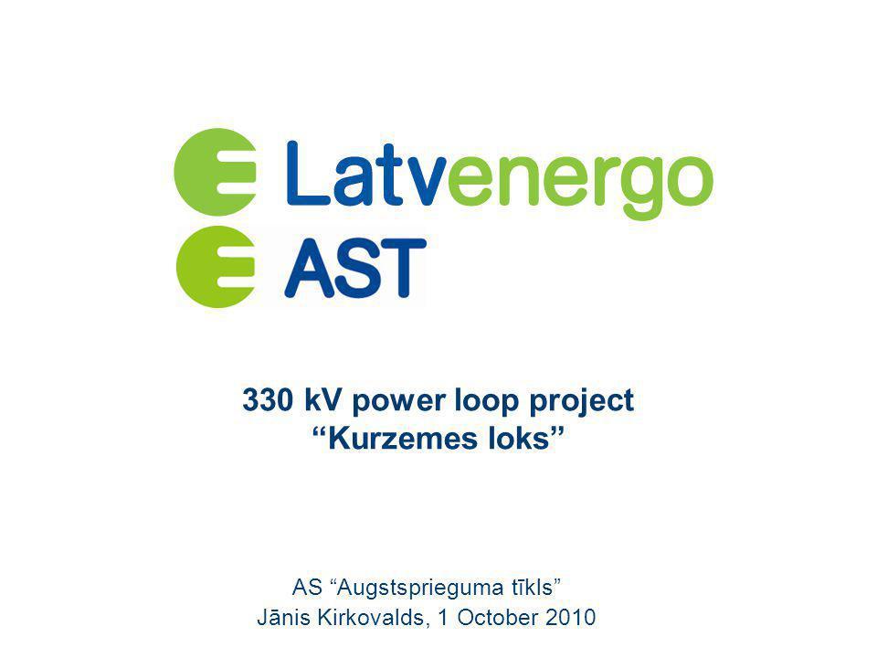 """330 kV power loop project """"Kurzemes loks"""" AS """"Augstsprieguma tīkls"""" Jānis Kirkovalds, 1 October 2010"""