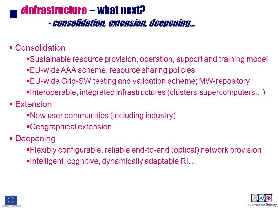 eInfrastructure – what next.