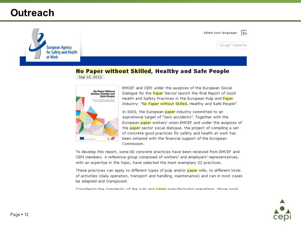 Outreach Page  12