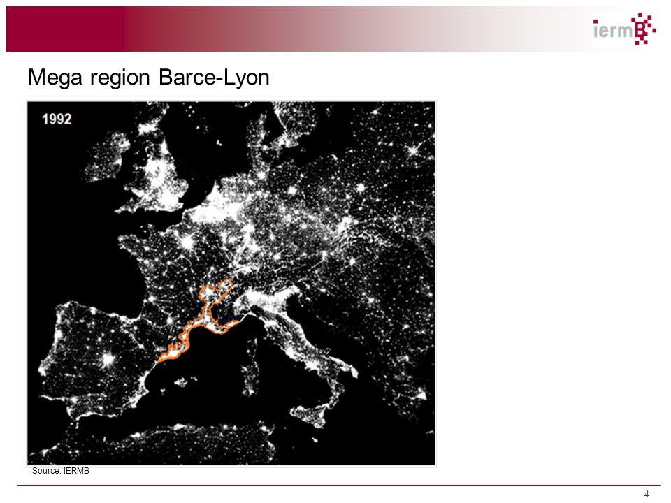 Mega region Barce-Lyon Source: IERMB 1.2 Tendències territorials i econòmiques 4