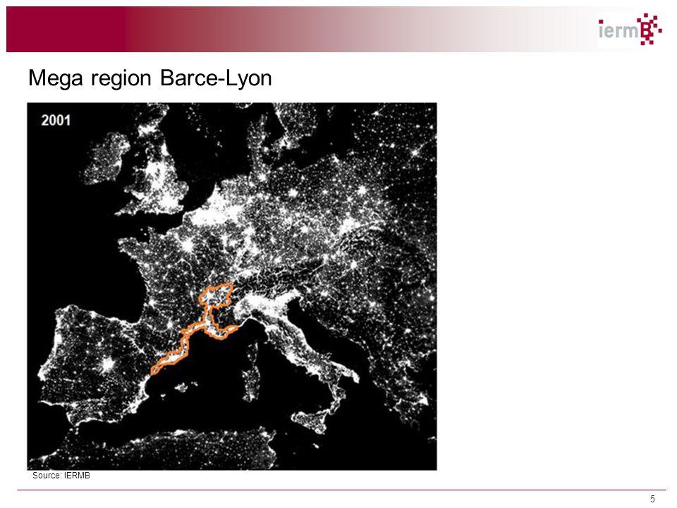 Mega region Barce-Lyon Source: IERMB 1.2 Tendències territorials i econòmiques 5