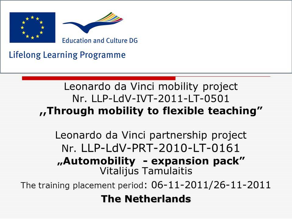 Leonardo da Vinci mobility project Nr.