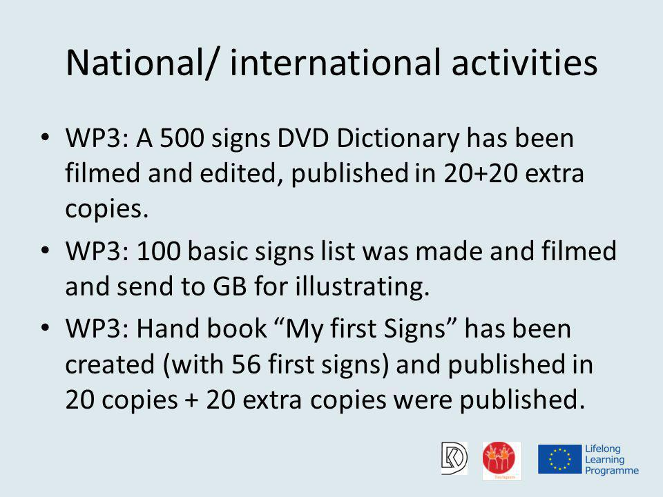 DVD Lithuanian Sign Language Dictionary (Pre primary education)
