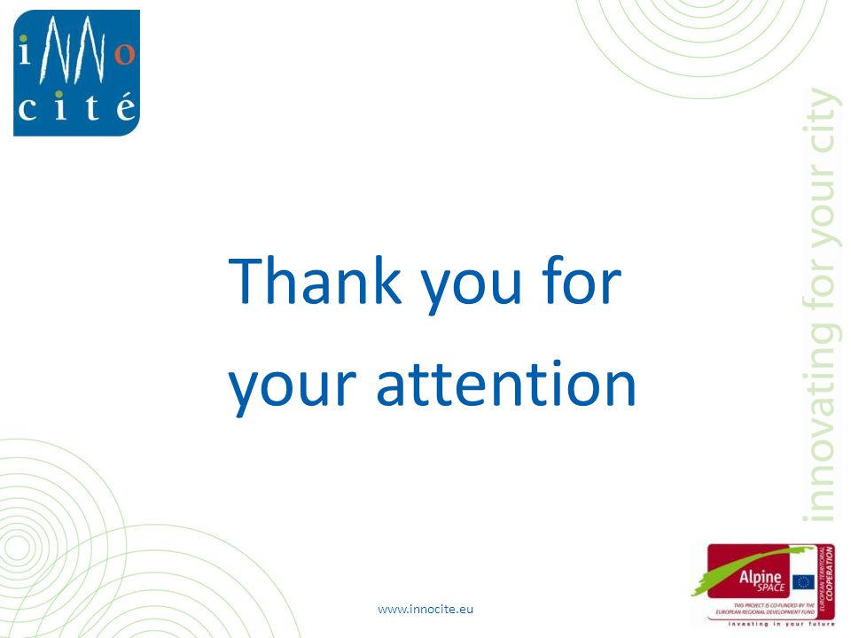www.innocite.eu Thank you for your attention