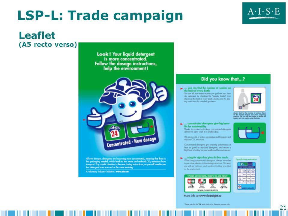 21 LSP-L: Trade campaign Leaflet (A5 recto verso)