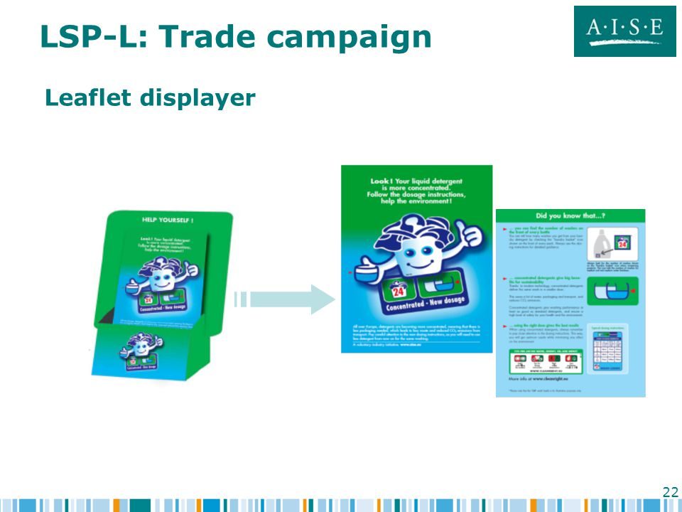 22 LSP-L: Trade campaign Leaflet displayer