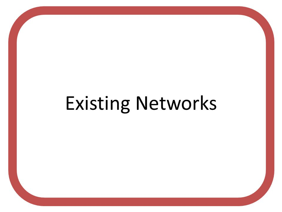 Existing Networks