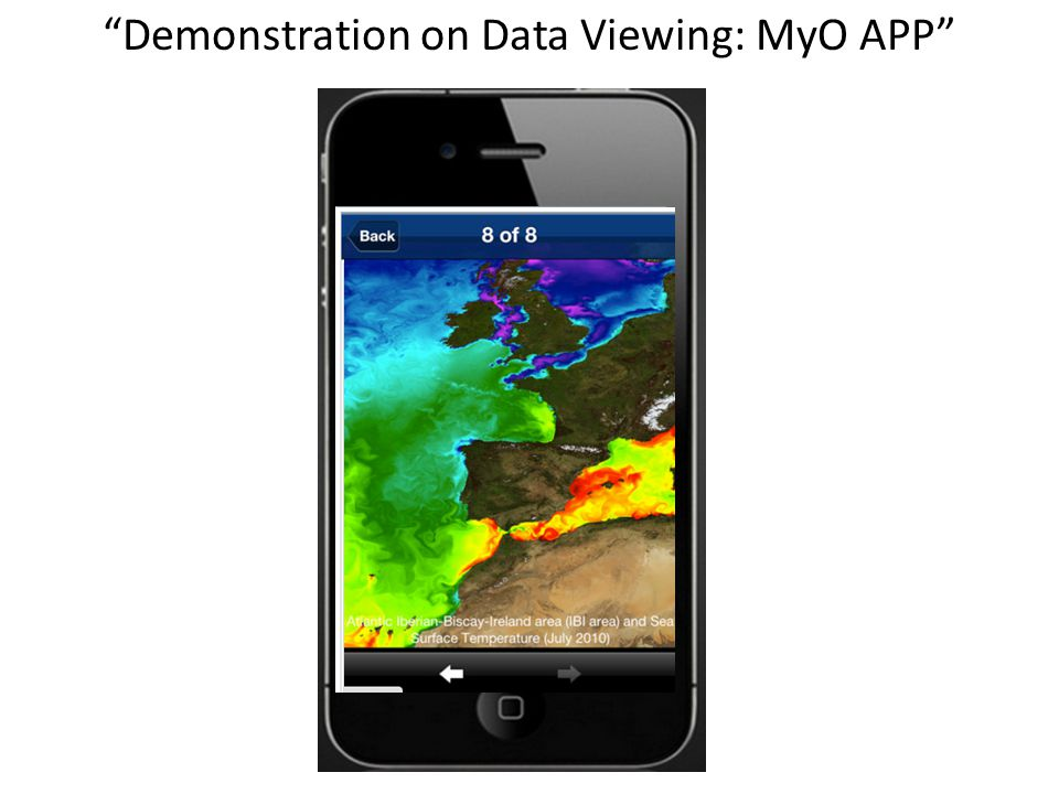 Demonstration on Data Viewing: MyO APP