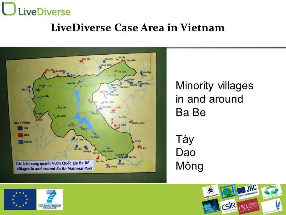 Minority villages in and around Ba Be Tày Dao Mông