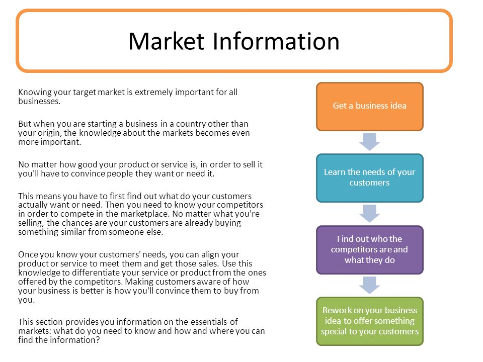 Knowing your target market is extremely important for all businesses.