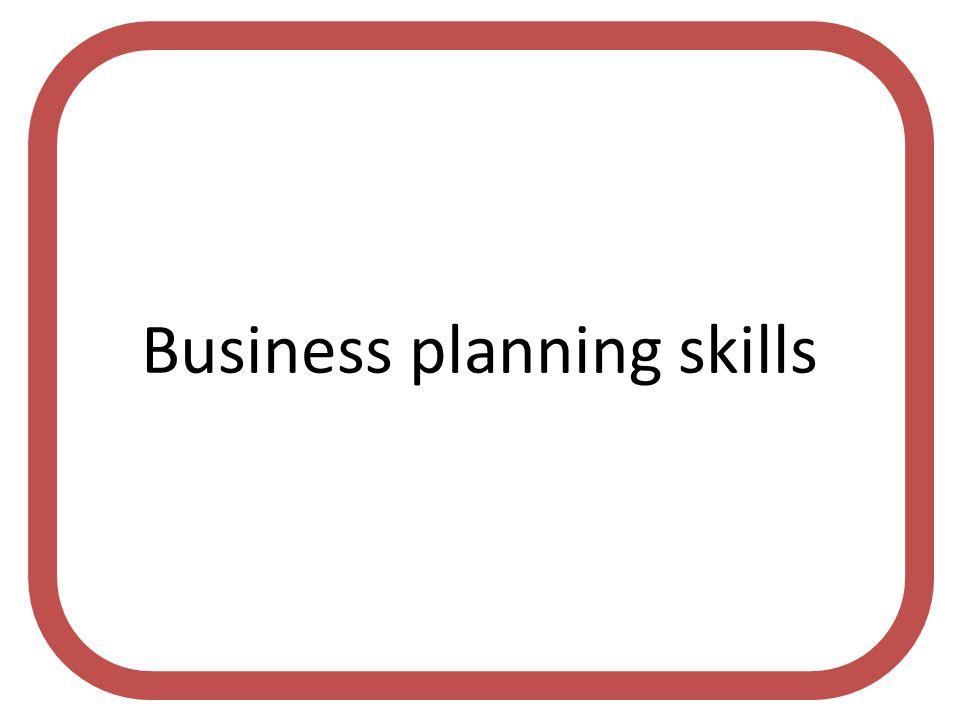 Business planning skills