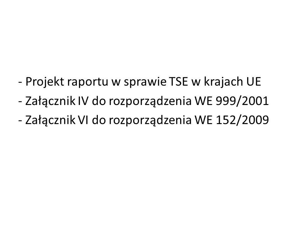 Distribution of TSE cases detected in 2010 Dane DG SANCO