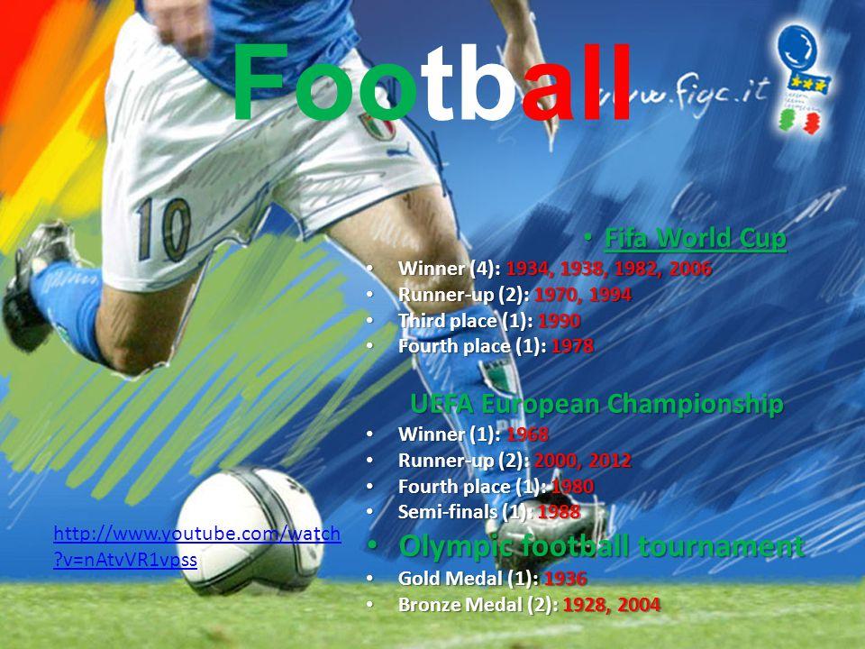 Football Fifa World Cup Fifa World Cup Winner (4): 1934, 1938, 1982, 2006 Winner (4): 1934, 1938, 1982, 2006 Runner-up (2): 1970, 1994 Runner-up (2):