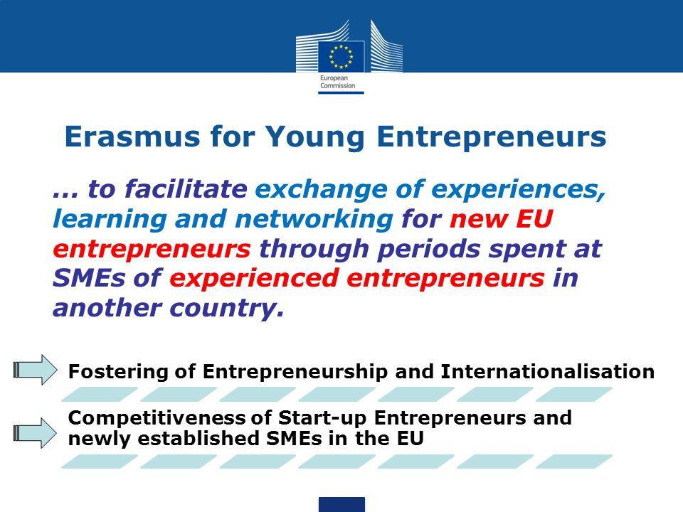 Erasmus for Young Entrepreneurs...
