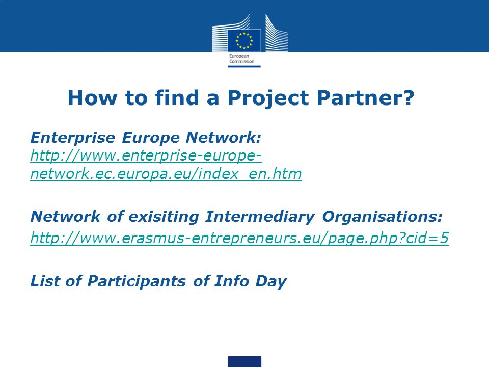 How to find a Project Partner.
