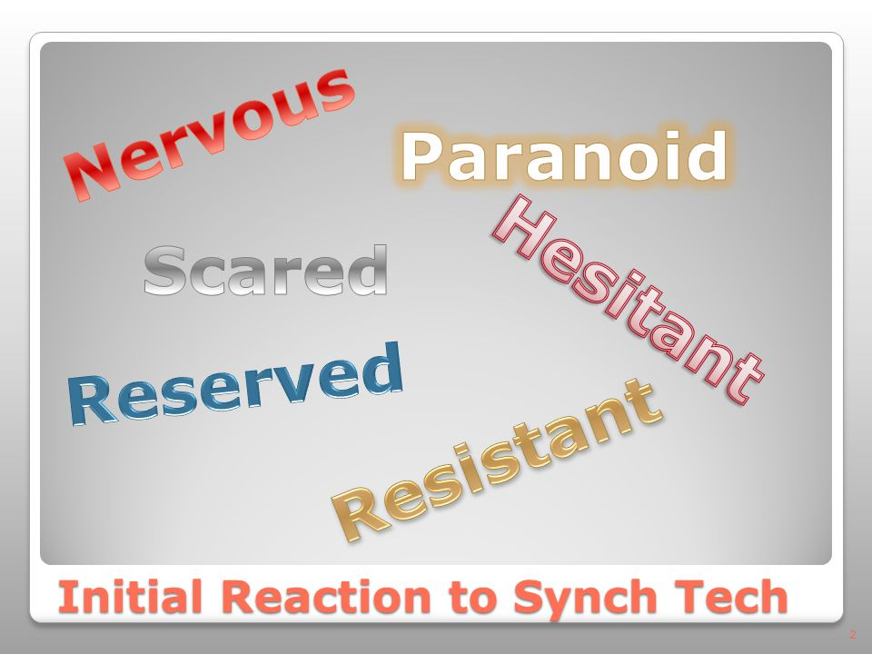 Initial Reaction to Synch Tech 2