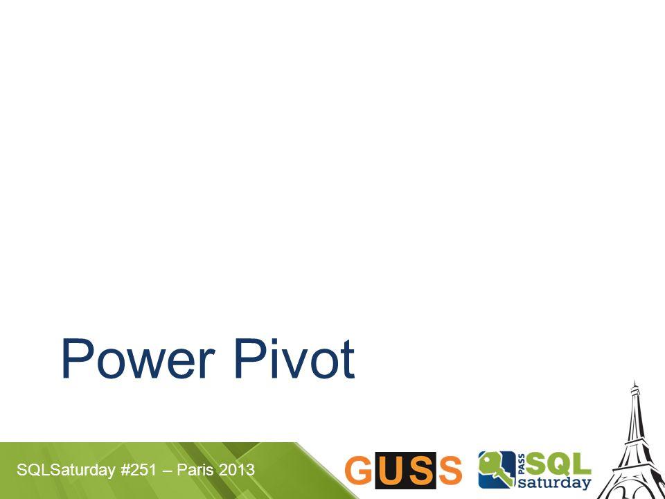 SQLSaturday #251 – Paris 2013 Power Pivot