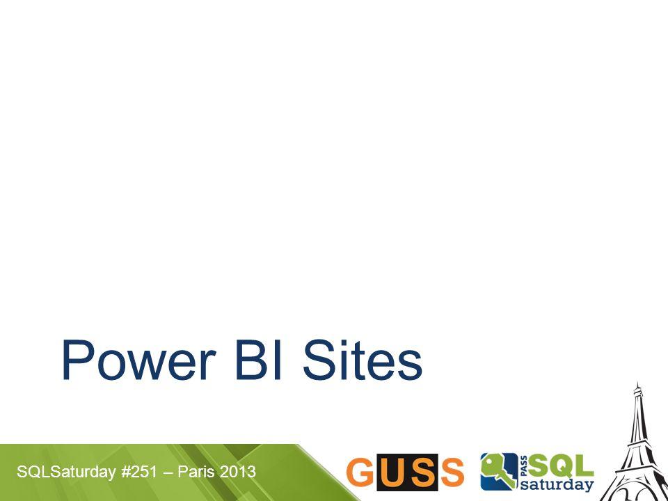SQLSaturday #251 – Paris 2013 Power BI Sites